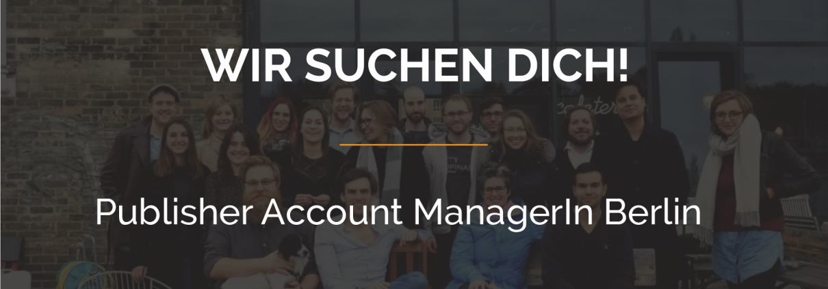 Opinary sucht: Publisher Account Manager