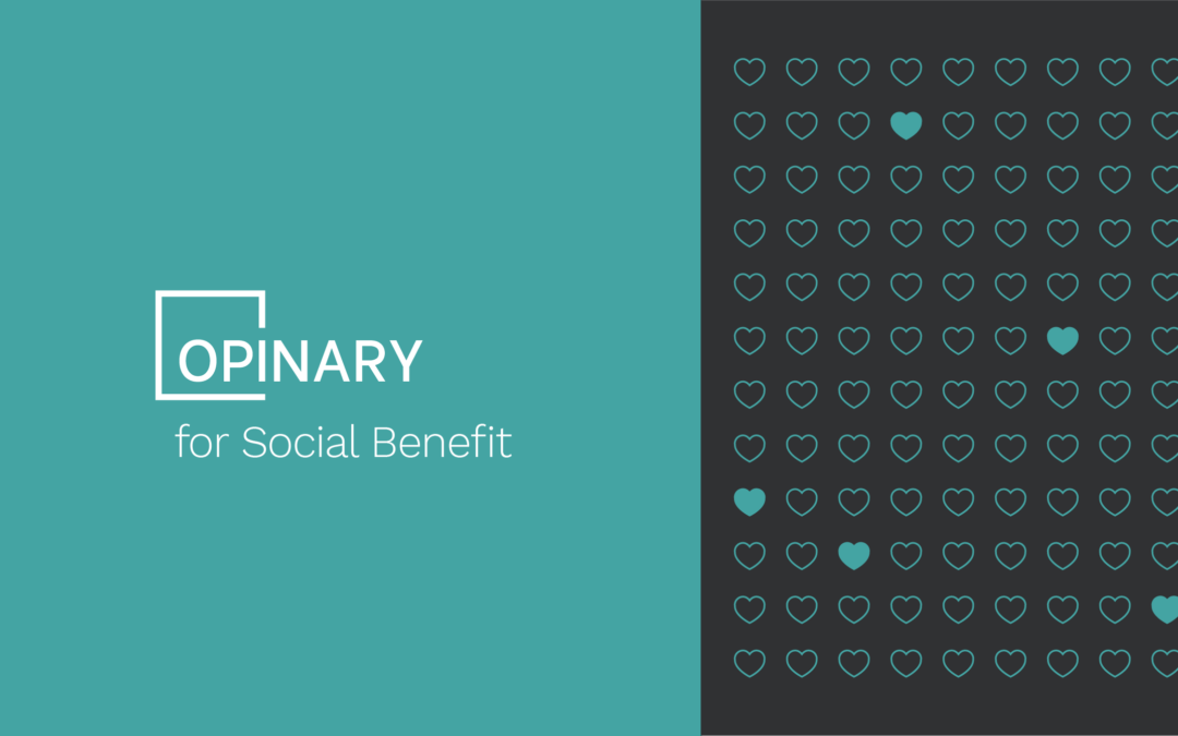 Opinary for Social Benefit