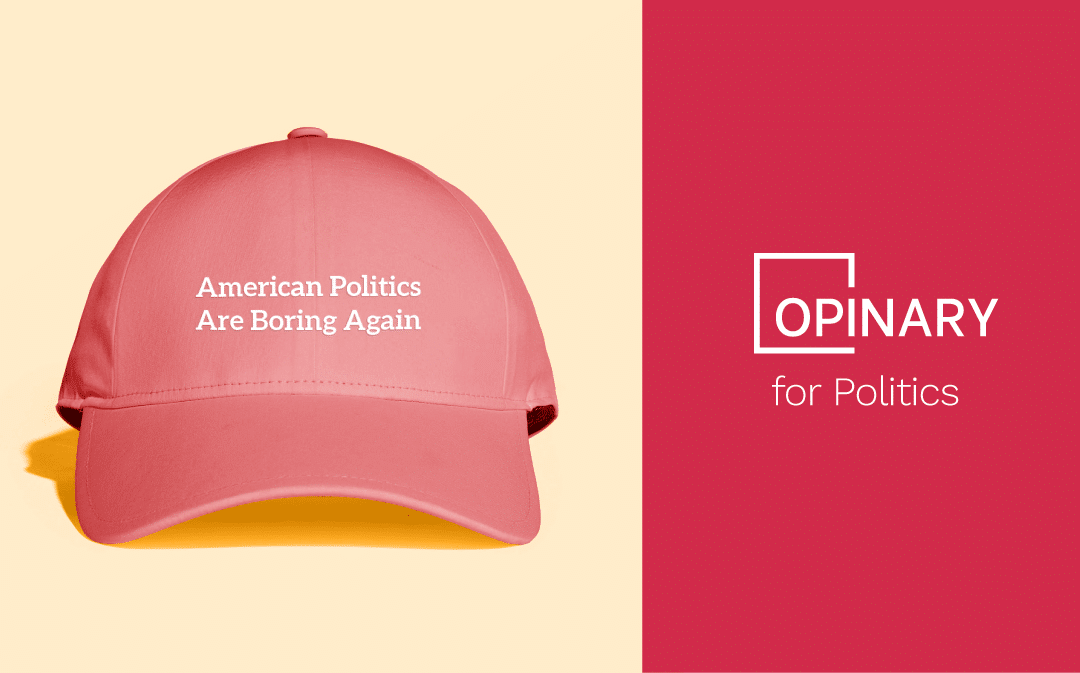 American Politics Are Boring Again: audience engagement in a post-Trump world